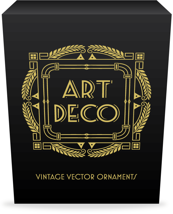 Ultimate Art Deco Vector Pack 275 Decorative Frames 70