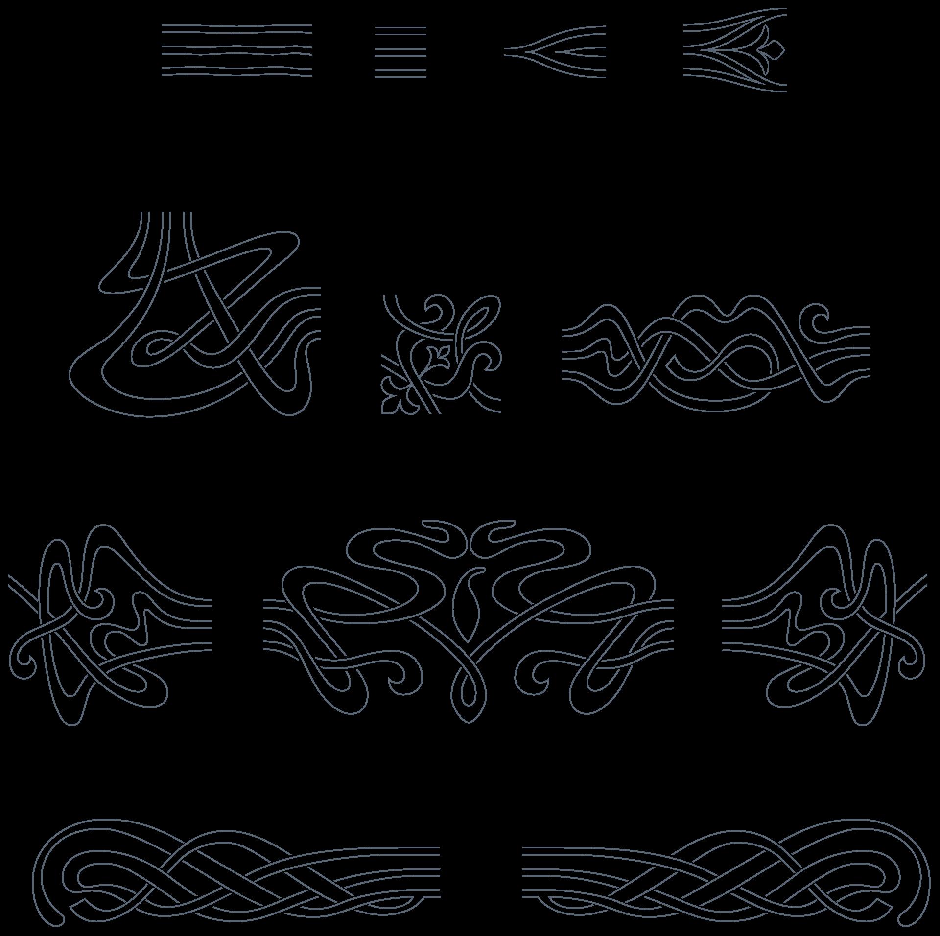 download vintage art nouveau art nouveau 285 vector ornaments