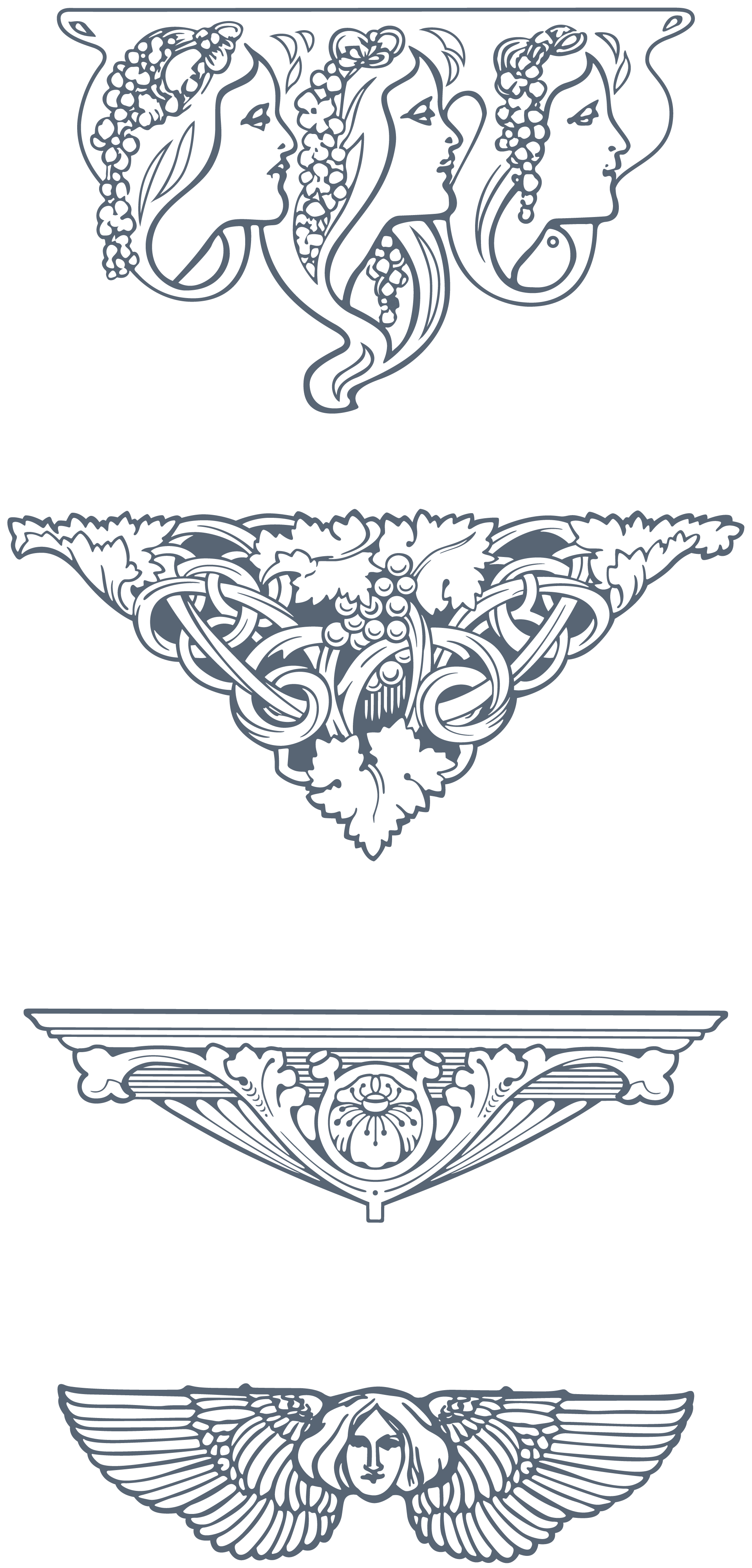 Download Vintage Quot Art Nouveau Quot Art Nouveau 285 Vector