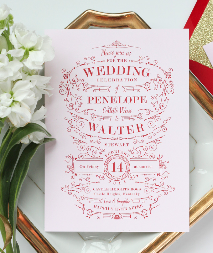 Pink and gold wedding invitations  Etsy UK
